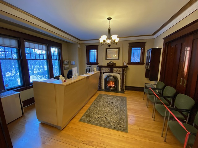This is a picture of the Reception and Waiting Room at Collins Chiropractic