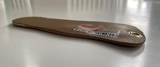 This is an image of Foot Levelers dress length custom foot orthotics in Edmonton